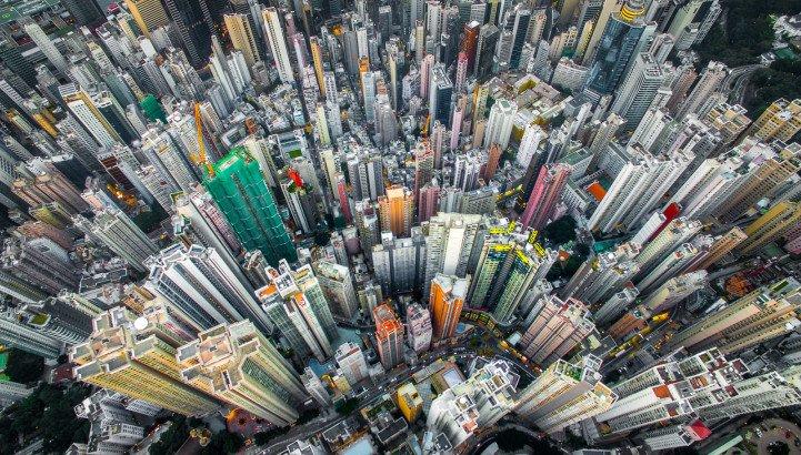 Гонконг с высоты птичьего полёта