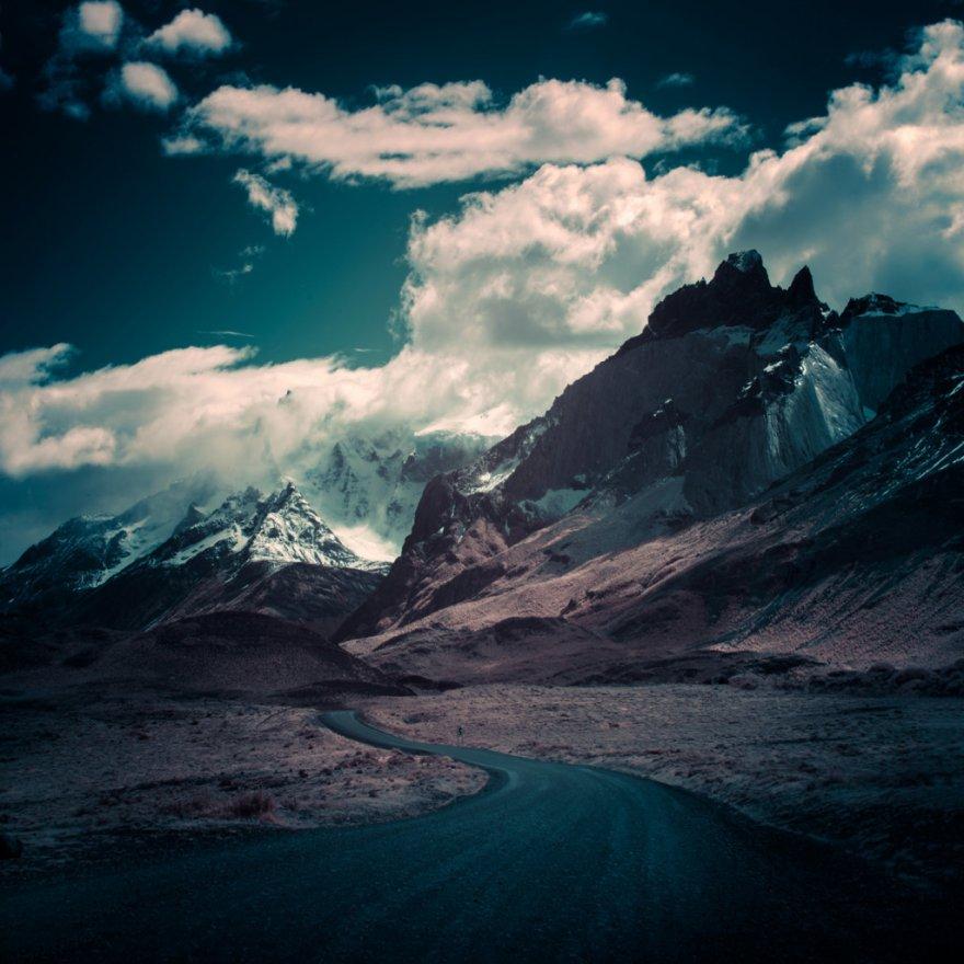 Инфракрасные снимки горных вершин