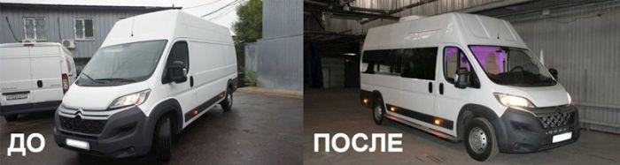 Внутри грузового фургона Citroen (20 фото)