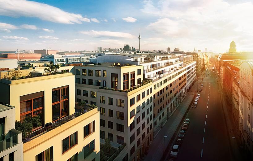 Жилой комплекс в стиле 19 века в Берлине от David Chipperfield