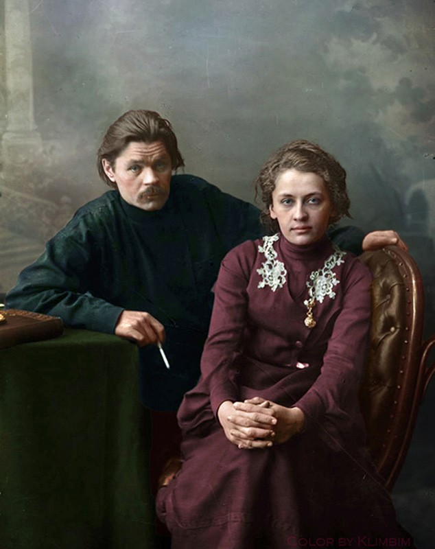 Русские писатели и поэты на фотографиях в цвете