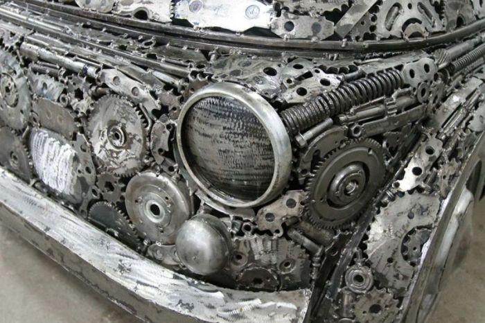 Cозданные из металлолома автомобили (9 фото)