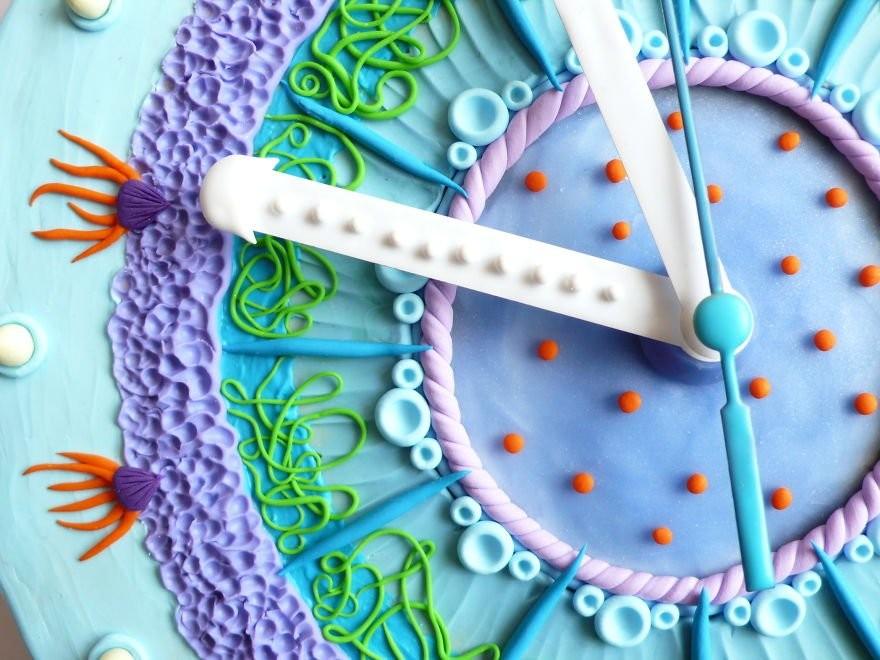 Потрясающие настенные часы из полимера