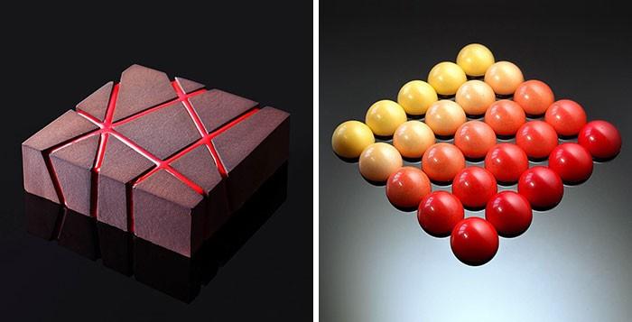 Кондитер создает невероятную геометрическую выпечку