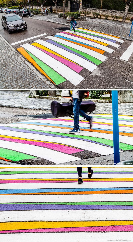 Красочные пешеходные переходы в Мадриде, которые невозможно не заметить