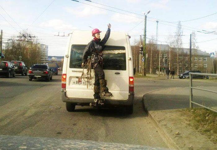 Фото, которые возможно было сделать только в России (37 фото)