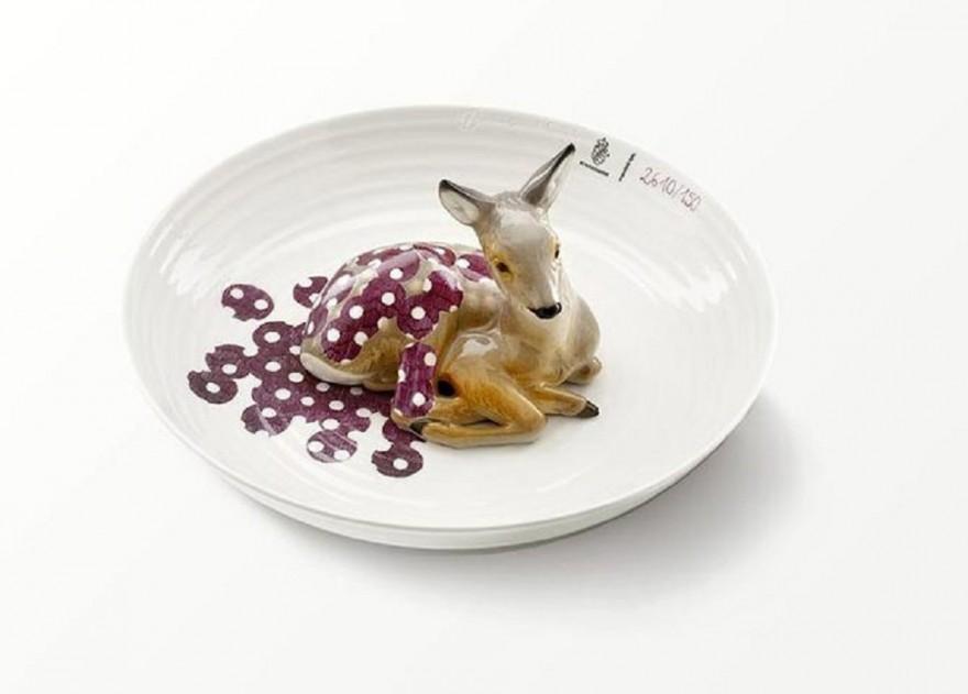 Фарфоровые тарелки с животными Hella Jongerius