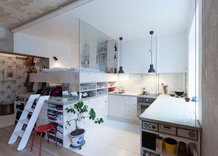 Квартира-студия из старого склада (8 фото)