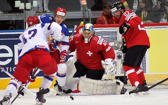 Хоккей, ЧМ Россия — Швейцария 2016, счет 5:1, все голы!