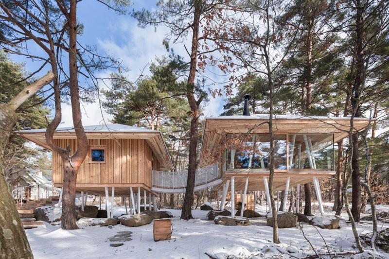 Японский загородный дом на сваях (4 фото)