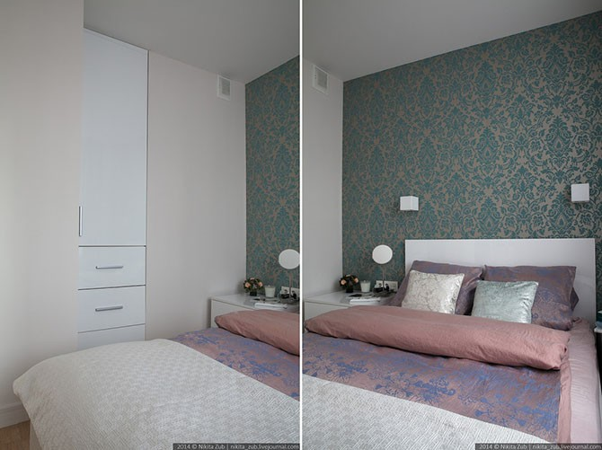 Отличный интерьер маленькой квартиры в Питере (15 фото)