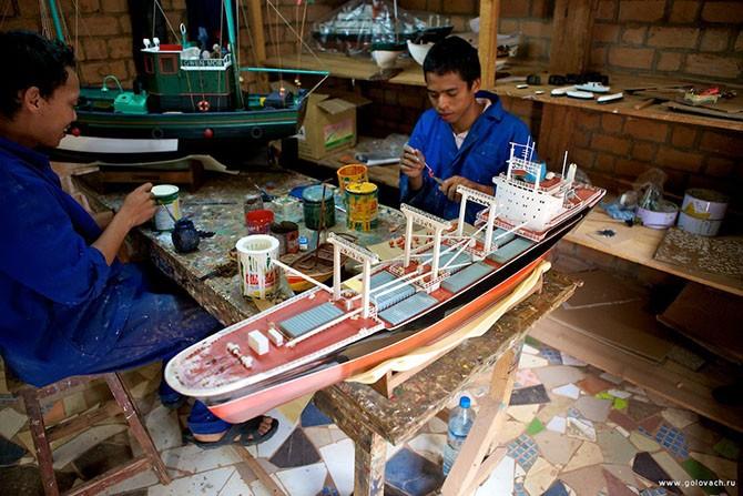 Как делают модели кораблей из ценных пород дерева (39 фото)