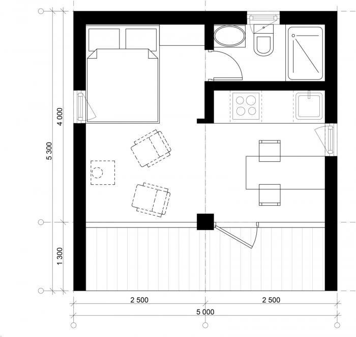 Модульный дом площадью 16 квадратных метров (25 фото)