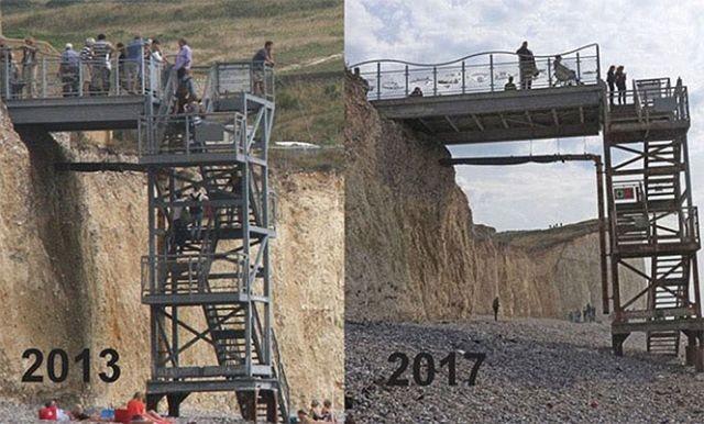 Когда береговая линия меняется на глазах (4 фото)