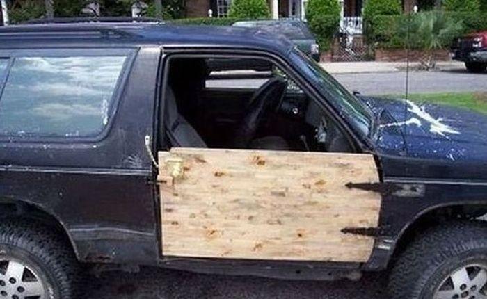 Когда жалко денег на ремонт авто (25 фото)
