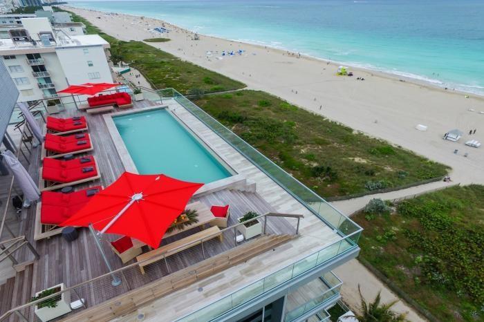 Дизайн и интерьер пентхауса в Майами (18 фото)