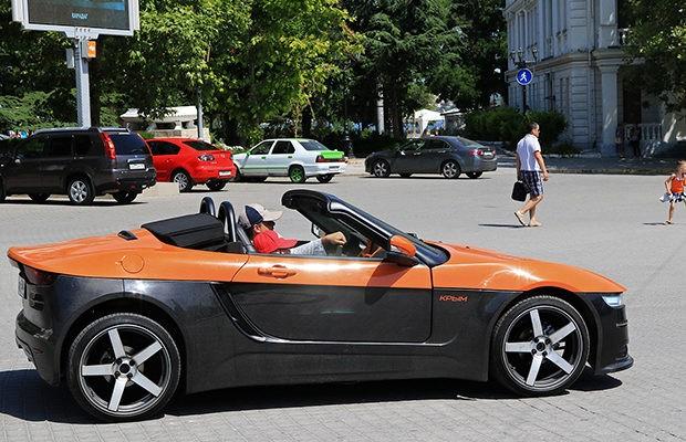 На основе LADA Kalina: в России представлен проект кабриолета «Крым» (5 фото)