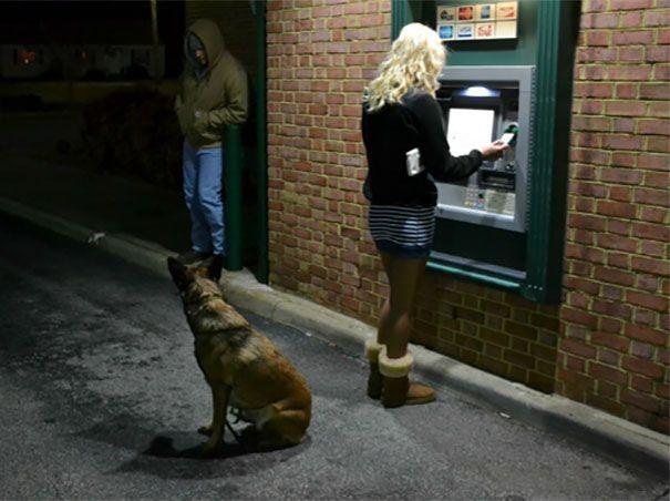Лучшая защита от грабителей, подстерегающих у банкомата (11 фото)