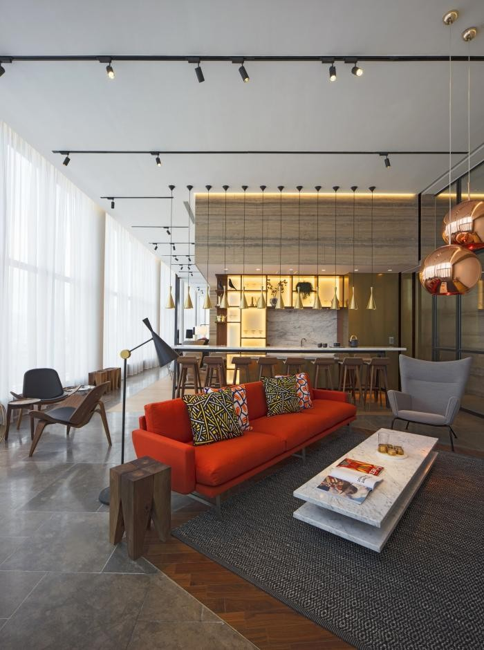 Архитектура и дизайн клубного дома в Гонконге (13 фото)