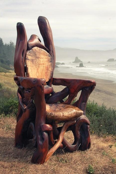 Скульптуры из коряг Джеффро Уиттом (12 фото)