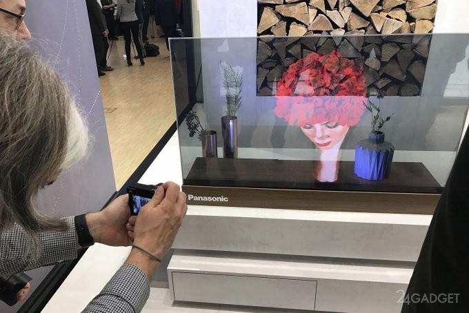 OLED-дисплей — прозрачная новинка от Panasonic (3 фото + видео)