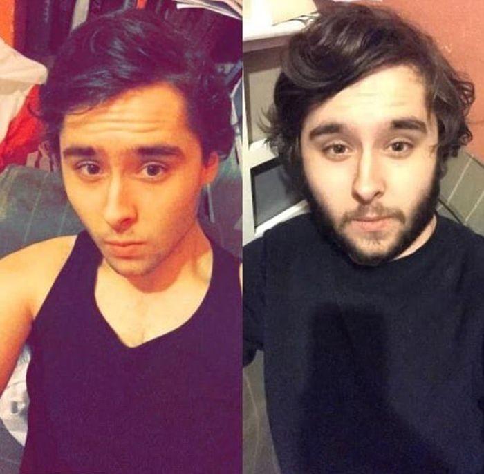 Мужчины сбривают бороды (18 фото)