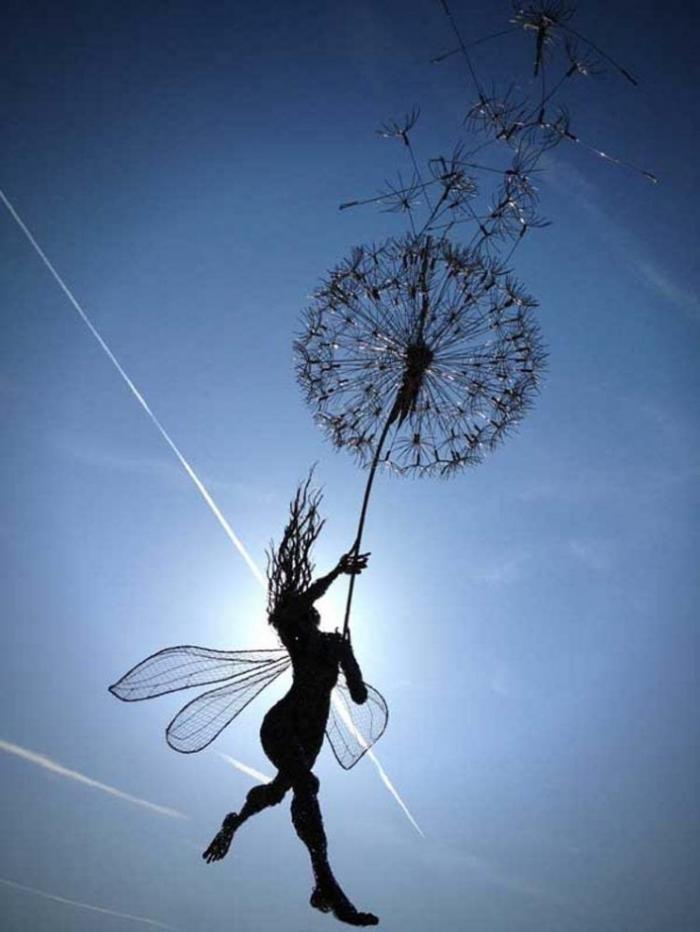 Проволочные скульптуры британца Робина Уайта (18 фото)