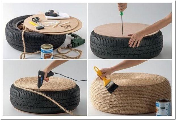 Что можно сделать со старыми шинами (27 фото)