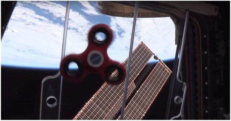 Спиннер в космосе (1 фото + 1 видео)