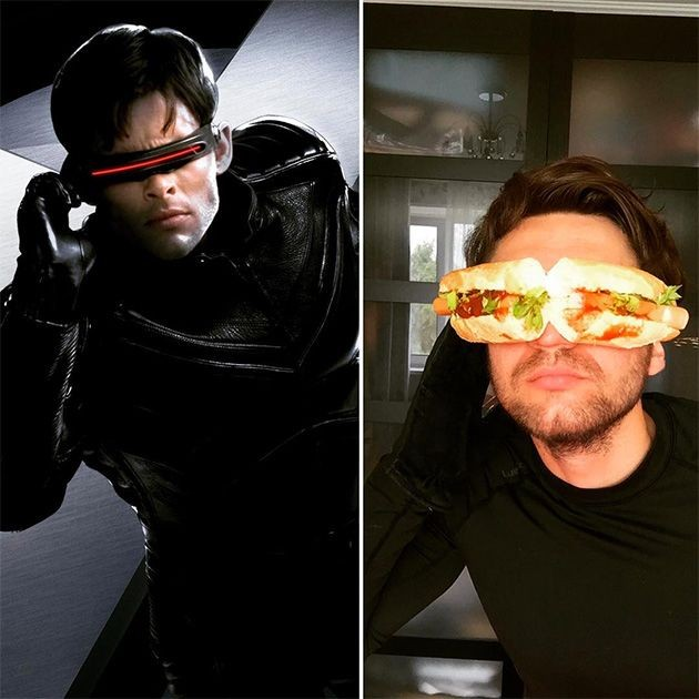 Парень перевоплощается в супергеров при помощи подручных средств (12 фото)