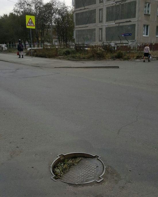 Челябинские дорожники решили проблему (3 фото)
