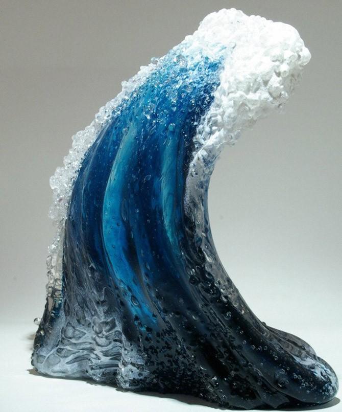 Морские волны в скульптурах Марши Блейкер и Пола Де Соммы (14 фото)