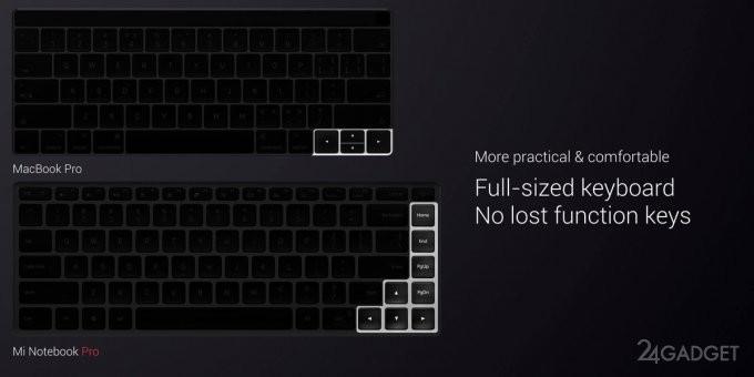 Xiaomi Mi Notebook Pro — новый конкурент Apple MacBook Pro (28 фото)