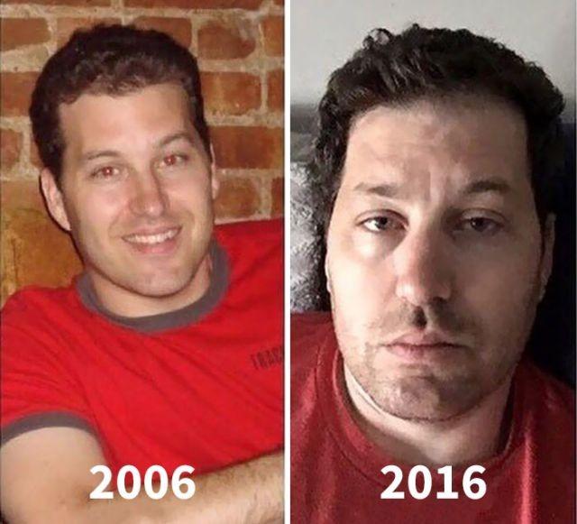 Молодые родители до и после появления детей (15 фото)