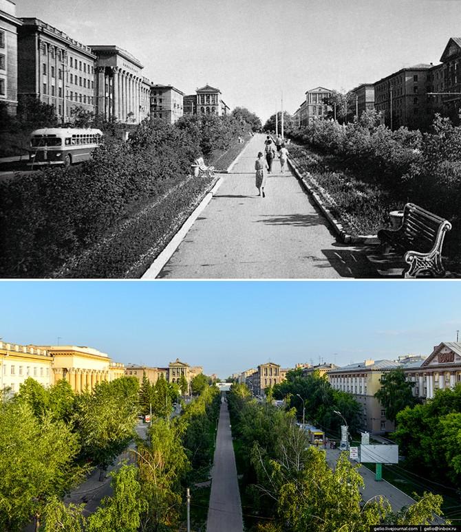 Новосибирск тогда и сейчас (34 фото)