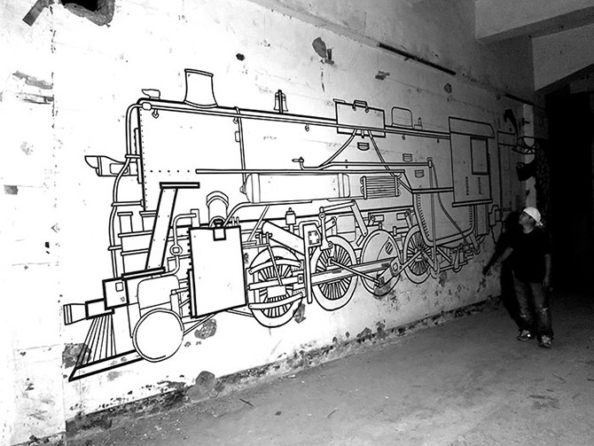 Прекрасный стрит-арт из подручных материалов (15 фото)