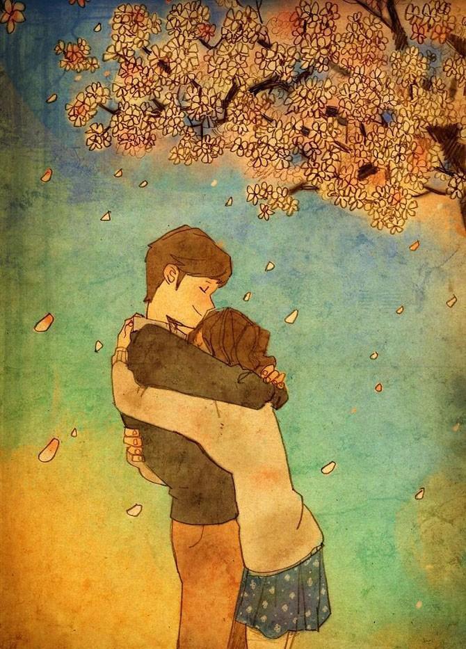 Иллюстрации о любви в мелочах (50 фото)