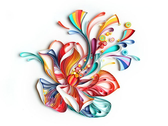 Шедевры в стиле квиллинга от Юлии Бродской (9 фото)
