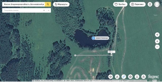 Во Владимирской области исчезло лесное озеро Саканцы (2 фото)