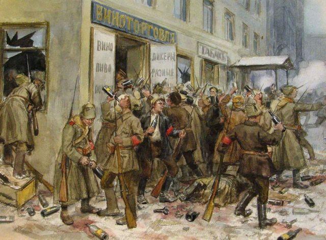 Октябрьская революция в зарисовках Ивана Владимирова (20 фото)