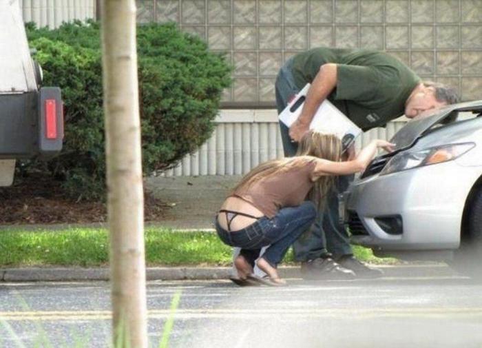Девушки за рулем (40 фото)