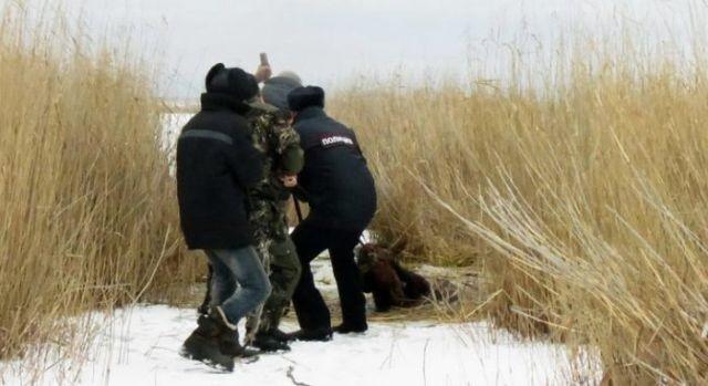 Полицейские спасли похищенного коня, брошенного умирать в болоте (4 фото)