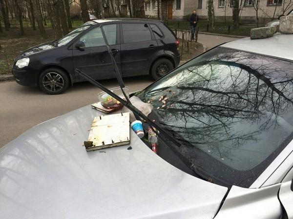 Питерский штраф за неправильную парковку (4 фото)