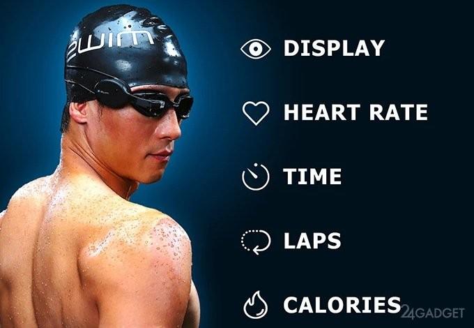 Очки для плавания с функционалом в стиле Google Glass (5 фото)