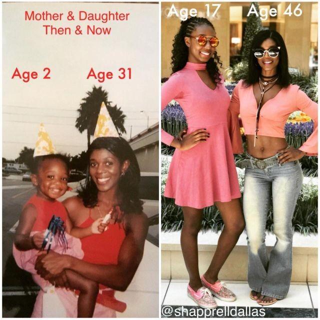 Мама и дочь, но кто из них кто? (3 фото)