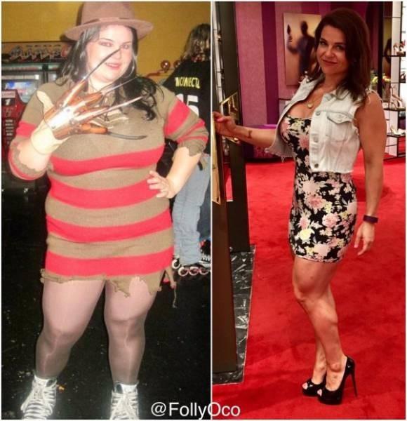 Люди, сумевшие побороть лишний вес (35 фото)
