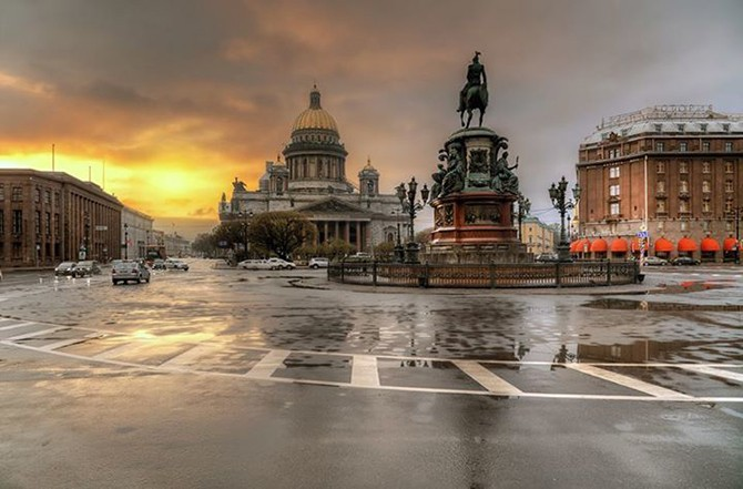 Рассветы и закаты в Санкт-Петербурге (19 фото)