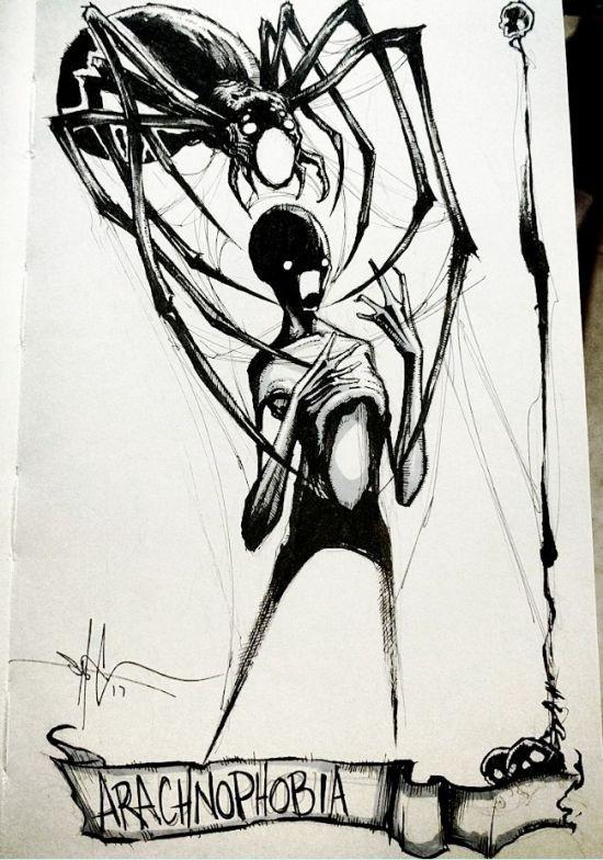 Человеческие фобии в рисунках Шона Косса (15 рисунков)