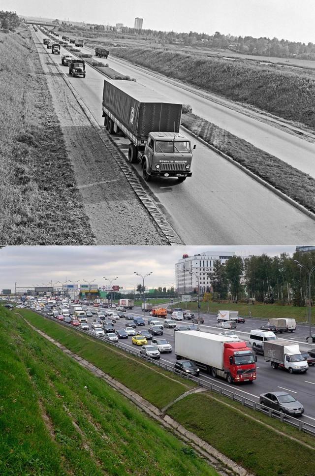 Знаковые места Москвы на снимках разных лет (11 фото)