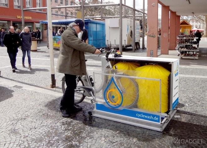 В Европе появились первые в мире автомойки для велосипедов (5 фото + видео)